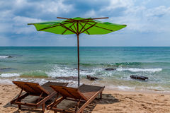 Chair in the beach in Vietnam Stock Photography