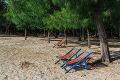 Chair. At the beachside , Prachuap Khiri Khan, Thailand Stock Images