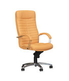 Chair from beige leather.  Royalty Free Stock Photography