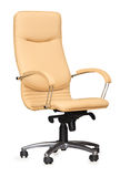 Chair from beige leather.  Royalty Free Stock Photo