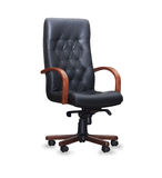 Chair from black leather.  Royalty Free Stock Image