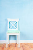 Chair on blue Royalty Free Stock Images
