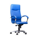 Chair from blue leather.  Royalty Free Stock Images
