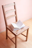 Chair and book Royalty Free Stock Photography