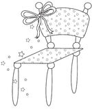 Chair. With bow on top Stock Photography
