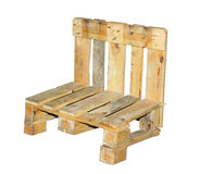 Chair built from a pallet Stock Photo