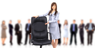 Chair and business woman Royalty Free Stock Photos