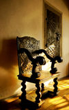Chair in castle Stock Photo