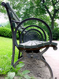 Chair in Central Park. Shot of a chair in central park from the side royalty free stock images