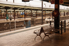 Chair in central train station, Sydney. Stock Images