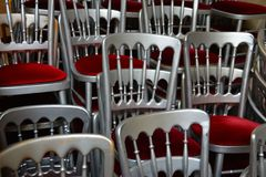 Chair, Chairs, Chrome Stock Photo