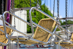 Chair of classic carousel Royalty Free Stock Photo