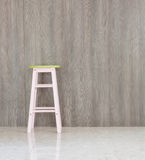 Chair  closeup with Laminate wall. At home Stock Image