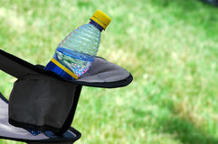 chair closeup mineral water Arkivbild