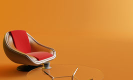 Chair, coffee table and cup Stock Image