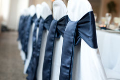 Chair covers with bows Stock Images