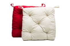 chair cushion puffy isolated royalty free stock image
