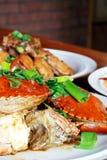 Chair de crabe Image libre de droits
