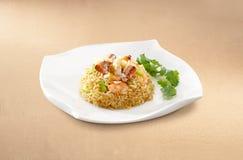 Chair de crabe asiatique de nourriture Fried Rice images libres de droits