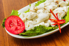 Chair de crabe cuite à la vapeur. Images libres de droits