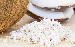 Chair de noix de coco et noix de coco râpée photos libres de droits