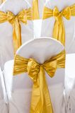 Chair decoration with bow Stock Photo