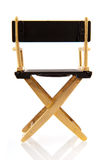 Chair from director. Or stage manager isolated over white stock photo