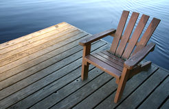 Chair on dock Royalty Free Stock Photo