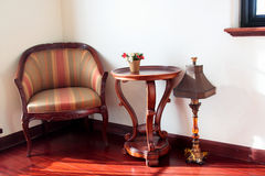 A chair in drawing room Stock Images