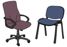 Chair. Drawing of two office chairs Stock Photo
