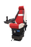 Chair of the driver from a loader cabin Royalty Free Stock Photography