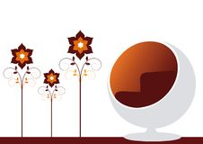 chair egg Στοκ εικόνες με δικαίωμα ελεύθερης χρήσης