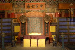 The chair of the emperor. In forbidden city of BeiJing China Royalty Free Stock Image