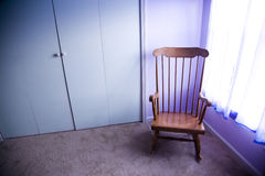 chair empty rocking Royaltyfri Bild