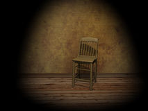 Chair in empty room. Illuminated by a projector Stock Images