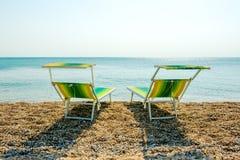 Chair Enjoying the Beach royalty free stock photos