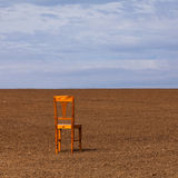 The chair on the field Stock Image