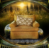 Chair in field Royalty Free Stock Photography