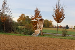 Chair in fields, Germany Stock Image