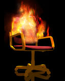 Chair on fire Stock Photography