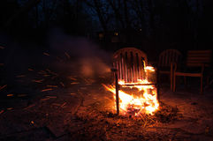 Chair On Fire Royalty Free Stock Images