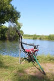 Chair for fishing Royalty Free Stock Photography