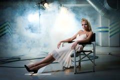 chair flickan Fotografering för Bildbyråer