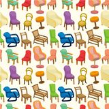 Chair furniture seamless pattern Royalty Free Stock Image