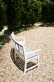 Chair in garden Royalty Free Stock Photos