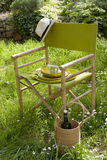 Chair in the garden Stock Photo