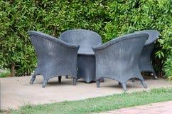Chair in garden Stock Photos