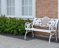Chair in the garden. Royalty Free Stock Images