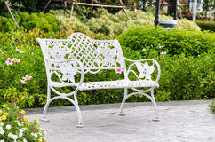 Chair in the garden. Stock Photos