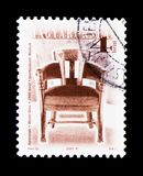 Chair by Geza Maroti, 1900, Antique Furniture serie, circa 2000. MOSCOW, RUSSIA - NOVEMBER 26, 2017: A stamp printed in Hungary shows Chair by Geza Maroti, 1900 stock photography